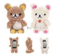 Wholesale 1pcs D Rilakkuma Bear Idoll case for iphone s g Cartoon Plush idoll case for iphone s