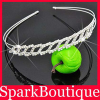 Wholesale Crystal Rhinestone Crown Hair Hoop Rhinsetone Tiaras Bridal Hair Jewellery
