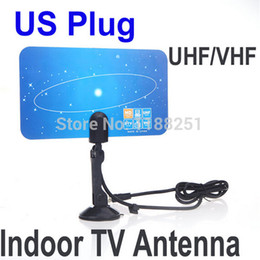 Wholesale Top Sale P i P TV Antenna Receiver US Plug Digital Indoor TV Antenna HD TV HD VHF UHF Flat Design High Gain xjeJe