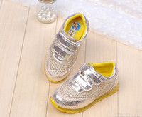 Wholesale Han edition of autumn new fund children shoes boy girl casual sneakers portable non slip running
