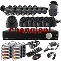 Wholesale Ultra CH D1 Real Time H CCTV DVR Kit TVL Night Vision CMOS Cameras Outdoor and Indoor