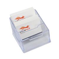 Wholesale NEW Desktop Business Card Holder Display Protection slots Transparent PVC Plastic Office Supplies Durable