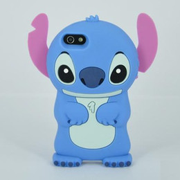 Vente en gros-Lilo 3D Cartoon Stitch doux Housse étui Case Silicone pour Apple iPhone 4 4 4 s 5 5 5 s 1pcs/lot silicone apple iphone cases wholesale for sale à partir de silicone apple iphone gros fournisseurs