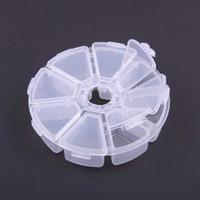 Wholesale Transparent Plastic Round Beads Display Storage Case fashion Jewelry Convenient Box new spring