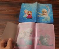plastic card holder - 20pcs Frozen Children s Day Gift Plastic ID Holder Princess Elsa Anna Kids Girls Passport Holder Cartoon Big Girl Card Bag H1496
