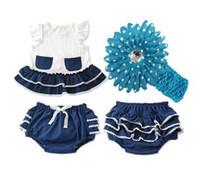 baby girl infant toddler 2pc set crochet lace vest shirt sin...