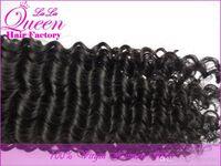 Wholesale Brazilian deep curly virgin hair human hair weave bundles natural black hair color inch gram per pack