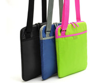 Wholesale new arriving high quality three candy color laptop bag laptop cross body messenger bags