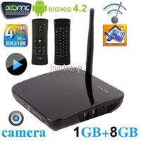 Included 3d webcam - MX5 Android Smart TV BOX Dual Core Webcam Camera GB GB Microphone Bluetooth Wifi Display DLNA XBMC D Movie Games Media Player NEO A2