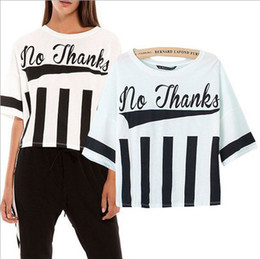 Wholesale New Summer Women Fashion T shirts European Style Half Sleeve Short t shirts Large Size Loose White Black Words Printed Tops