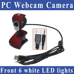 Free shipping 8 Mega pixels 6 LED USB 2.0 HD Webcam Camera PC Camera Web Cam with MIC for Computer PC Laptop PC webcam