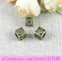 Wholesale Retro dice charms DIY alloy jewelry dice bulk dice beads jewelry making tibetan european beads new diy craft