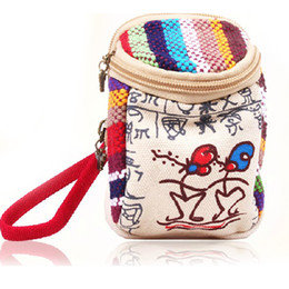 Wholesale Small cute cartoon Ethnic wallet fashion Korean style Wallets for ladies Mobile bag Messenger bag clutch women