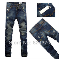 best ripped jeans - premium quality best price Leisure Casual pants TOP brand jeans men Trousers Straight Leg ripped jeans size