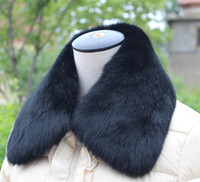 Wholesale white and black genuine rabbit fur collar large size high quality fur scarf down coat collar for lady and gentilmen