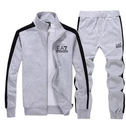 Wholesale 2014 Autumn New Style Mens Sweatshirts Casual Cotton Cardigan Fleece Tracksuit Jumper Outdoor Sports Suit Clothing Set Sportswear Moleton