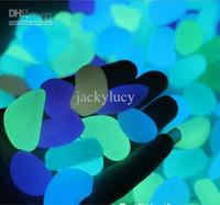 Simulación ligero luminoso Pebble Piedra Solar Glow Piedra Para el hogar Fish Tank Decoración Jardín Corredor Piscina de agua Decoración