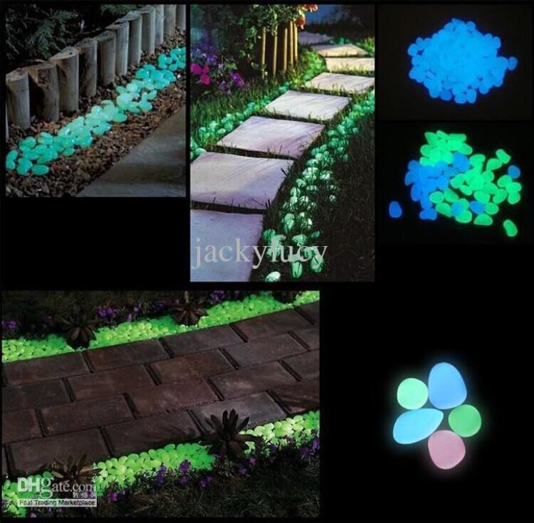 2017 solar glow stone artificial lightweight luminous pebble stone for home fish tank decor - Garden solar decorations ...