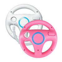 steering wheel for pc game - 2x White Pink Steering Mario Kart Racing Wheel for Remote Game