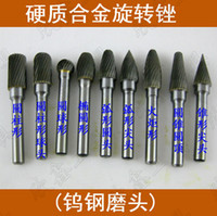 Wholesale 6mm alloy clamp handle grinding tungsten carbide steel grinding conical burrs and other FGLM