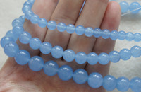 Wholesale Brand New mm mm mm Natural Blue Jade Round Loose Beads inch