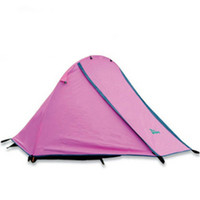 Wholesale person Tent single outdoor double layer aluminum rod camping tent windproof waterproof tent bivvy