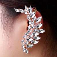 Wholesale Hot Sale Fashion Elegant Alloy Leaf Shape Long Stud Earrings Women Ear Cuff Earrings Good Quality