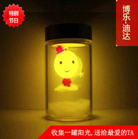 sun jar solar light - Sun Jar Solar Light control LED Nightlight creative birthday gift bedside lamp