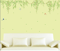 Cheap Free shipping new products for 2013 green branches vinyl decals for home removable wall nursery decorate stickers 60*90
