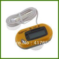 Wholesale 1pcs Yellow Digital LCD Fish Home Aquarium Terrarium Marine Thermometer