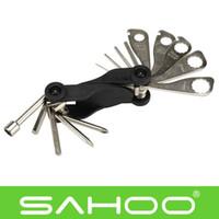 Wholesale SAHOO Multifunction Bike Bicycle Repairing Tool Set Pocket Folding Tool In1 Hex Key Wrench Straight Phillips screwdriver