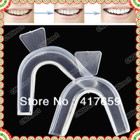 Wholesale New Transparent pair Thermoforming Mouth Whitening Trays Dental Teeth