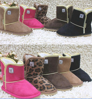 Wholesale HOT NEW Children s Snow Boots Cheap Kids Shoes LJ Unisex Boots Warm Stable Winter Hardwearing Shoes colors