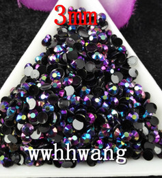 Wholesale Black AB Magic color AB jelly mm resin rhinestones Nail Art Mobile phone stick drill SS12