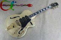 achat en gros de guitare électrique naturelle creuse-Custom Shop Semi Hollow Body L5 naturelles Jazz guitare électrique en gros Guitars De Chine Livraison gratuite