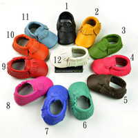 genuine leather tassels moccasins soft leather baby first wa...