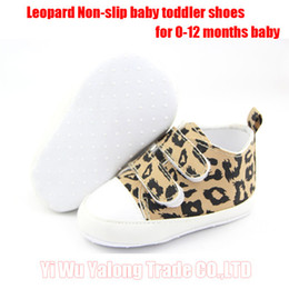 Wholesale 1pair New design leopard baby first walkers Soft Sole non slip Baby Shoes free size for age months