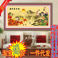 Wholesale Precision printing D Stitch latest series of landscapes living rising sun Annunciation stitch