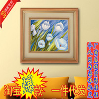 Wholesale Yiwu brand new D stitch stitch flower landscape oil painting factory direct living plants