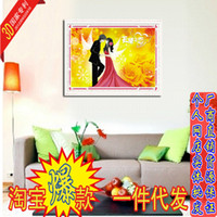 Wholesale Yiwu brand new stereoscopic D stitch precision printing factory Angel Love wedding celebration