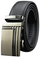 Wholesale Men Genuine Leather belts Second Layer Cowskin Brand designer Fashion Automatic buckle Cintos Cinturon MZ034 New arrival