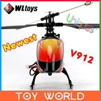 Cheap Free Ship Newest WLtoys V912 Big RC Helicopter Remote Control Toys 4CH 2.4GHz Radio Control RTF Original Package Single Blade