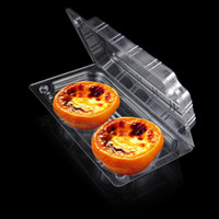 individual cupcake boxes - 100X Individual With Hat Clear Plastic Disposable Food Cake Container Cupcakes Packaging Box