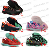 brand shoes cheap - Cheap KD VI Precision Timing Men Basketball shoes Top quality Kevin Durant VI Brand sports shoes new style colors Grey Mint Gold
