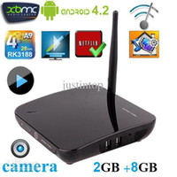 Wholesale TV01 CS968 Smart TV BOX RK3 Installed XBMC Netflix Quad Core Camera Android OS Mini PC GB RAM GB Bluetooth Skype D Media Player