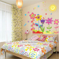 Wholesale AY708 new arrival Multicolour Flowers and Plants PVC Transparent Film Wallpaper Removable Vinyl Stickers For Home Decor