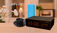 wooden hand display - Wooden Bedside pro Bluetooth Speaker hands free calls Creative smart home stereo USB Charger Temperature Display