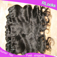 Wholesale Hot selling CHEAP Brazilian body wave hair weave quot quot Natural color durable quality fast shipping