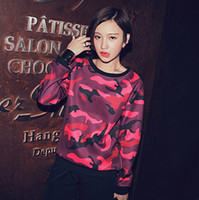Wholesale Only Women sweatshirt Hoodie exclusive custom camouflage loose slim red sweater Tie dye print autumn vestidos