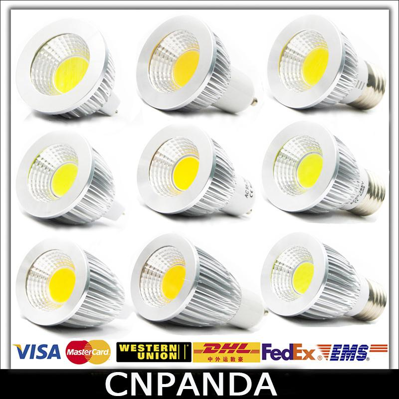 Super COB lumineux GU10 a conduit 5W ampoules de 7W 9W Dimmable E27 E26 MR16 a c